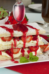 Strawberry Mille Feuilleb