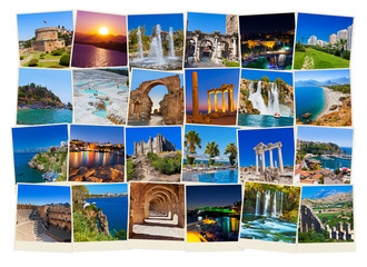 Stack of Antalya Turkey travel images