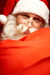 Leinwanddruck Bild - Happy Santa