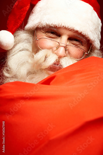 Leinwanddruck Bild Happy Santa