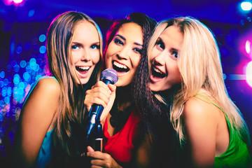 In karaoke bar