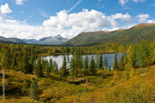 Wild landscape in Ural Mountains.