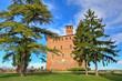 Ancient castle. Grinzane Cavour, Italy.