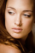 beauty young brunette woman close up