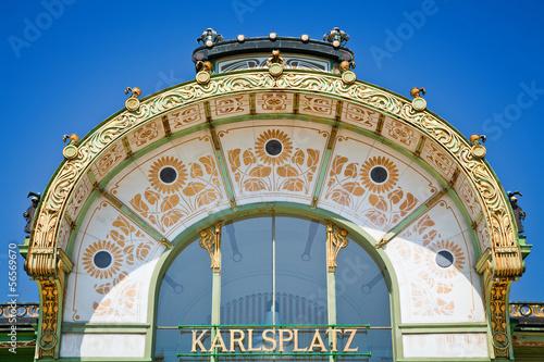 Fotobehang Treinstation Karlsplatz Station
