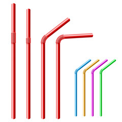 Drinking straw set