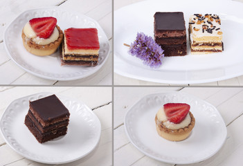 assorted cakes composition