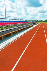 Running track at the stadium