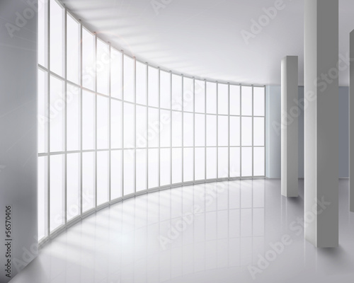 Glass wall. Vector illustration.