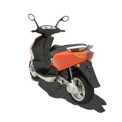 Orange Scooter Isolated