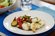 Grilled cuttlefish and vegetables