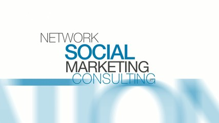 Network Social Marketing Consulting word tag cloud animation