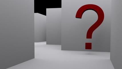 Punti interrogativi  e labirinto