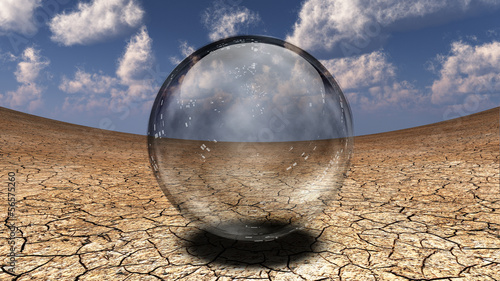 Crystal Sphere in desert depression