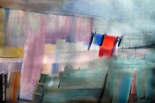 Watercolor painted abstract picture © denys_kuvaiev