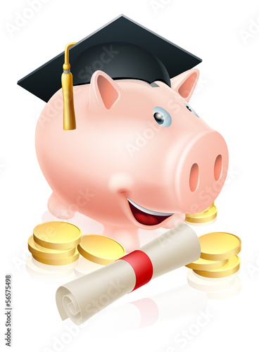 Saving for career piggy bank