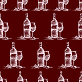seamless wine pattern  vector