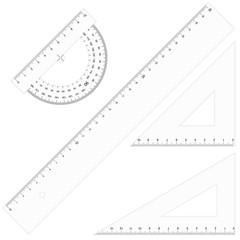 Set - Lineale Dreikant durchsichtig