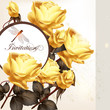 Beautiful invitation card with roses