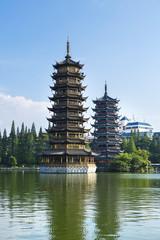 Pagodas Riming Shuang Ta - Guilin - China