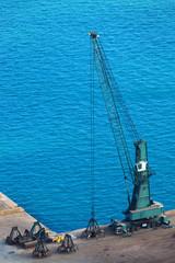 modern dredge in the harbor