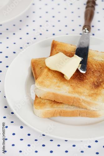 Toast mit Butter
