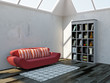 Sofa and shelf