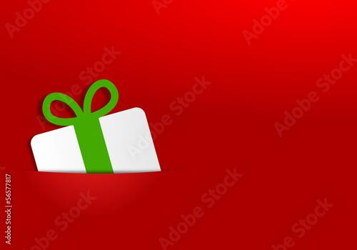Karte rot Geschenk