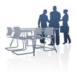 Business, Geschäftsleute, Partner - Silhouette