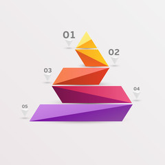 Colorful pyramid