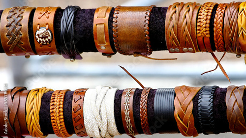 handcrafts colorful bracelets