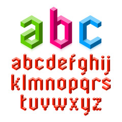3D alphabet. Easy to change color.
