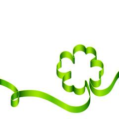 Green Cloverleaf Swirl