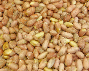 slted groundnuts (peanuts) closeup