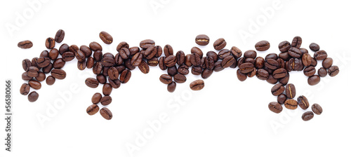 coffee beans border - 56580066
