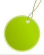 Anhänger rund grün