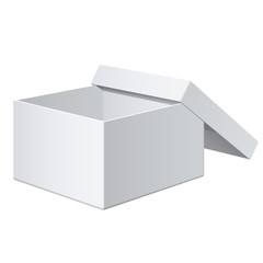 Cool Realistic White Box. For electronic device. Vector