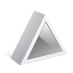 White triangular shape Box. For electronic device. Vector