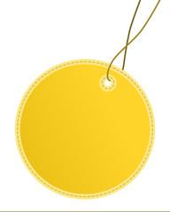 Anhänger rund gelb