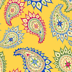 Bright seamless paisley pattern