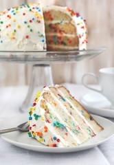 Vanilla Sprinkles Cake.