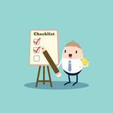 Checklist cartoon Illustration