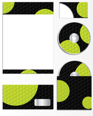 Hexagon dots business set