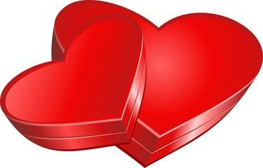 Valentine`s day gift box