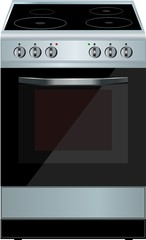 Electric cooker oven. Vector illustration.