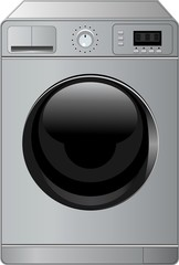 Vector illustration of a realistic washing machine