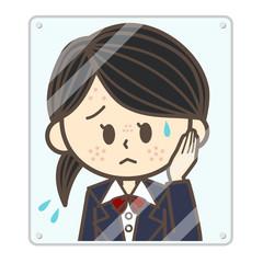 ニキビに悩む女子高生