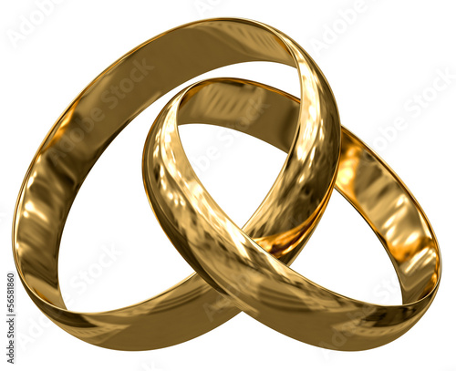 Gold rings (clipping path included)