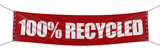"""100% Recycled"" banner  (clipping path included)"