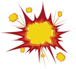 Boom bang comic cartoon explosion